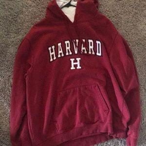 Maroon Harvard sweatshirt